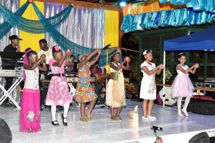 """One of the cultural performances at the  """"An Evening of Love, Lights and Music"""" event, which was hosted by Prime Minister Moses Nagamootoo and his wife, Mrs. Sita Nagamootoo."""