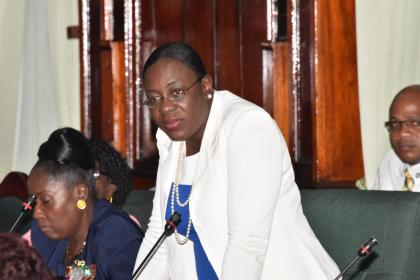 Minister within the Ministry of Education, Department of Culture Youth and Sport, Nicolette Henry