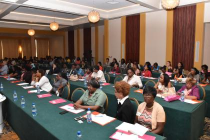 Women entrepreneurs at the forum in observance of International Day for the Elimination of Violence against Women and Women's Entrepreneurship Day