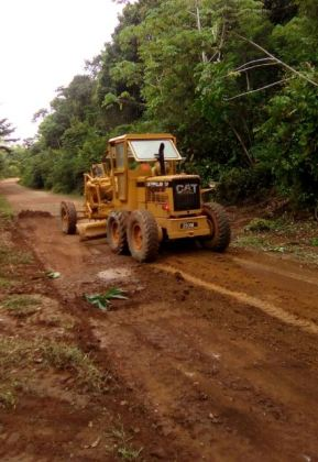 The almost completed Linden/Lethem road
