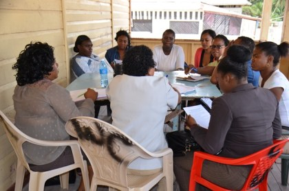 One of the working groups that participants were divided into to discuss the five focus areas on social cohesion