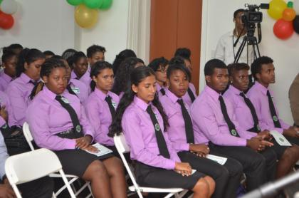 The initial batch for the Cadet Programme at the newly launched Bertram Collins College for the Public Service