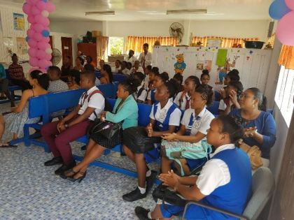 A section of the audience at the launch of the two new services