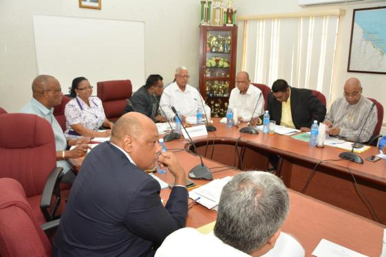Government, opposition and Union representatives at the high-level meeting on the way forward for the sugar industry
