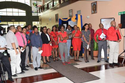 A section of the gathering at the (PANCAP) in collaboration with CARICOM and NAPS Market Place for HIV/AIDS information forum held at the CARICOM Secretariat