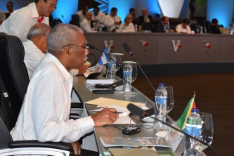 President David Granger at the General Debate of Heads of State and Government at the Fifth Summit of Heads of State and Government of the Community of Latin American and Caribbean States (CELAC).