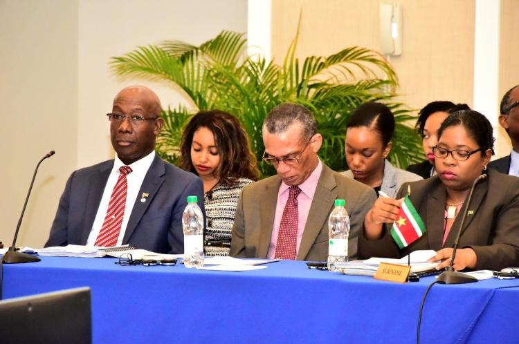Prime Minister of Trinidad and Tobago, Dr. the Rt. Hon. Keith Rowley is heading that country's delegation at the Inter-Sessional Meeting.