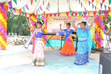 A cultural dance being performed during the programme