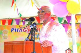 President Granger said Holi is also the colourful festival of Spring, which depicts the strong connection to the land
