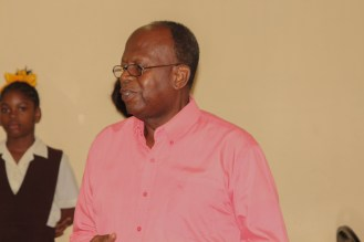 Facilitator of the programme, Mr. Fitzroy Younge