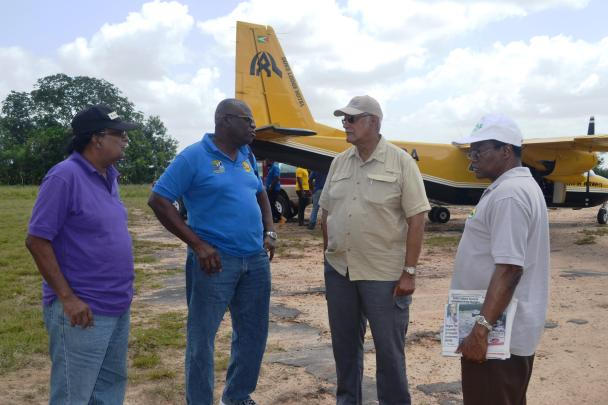 Agriculture-Minister-Noel-Holder-accompanied-by-CEO-of-NAREI-Dr.-Oudhoo-Homenauth-CEO-of-GLDA-Mr.-Nigel-Cumberbatch-and-CEO-of-NDIA-Mr.-Fredrick-Flatts