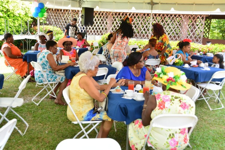 Some of the patrons at the WAD Easter Hat Show and Brunch