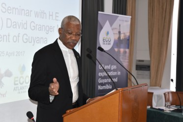 President David Granger told participants that Guyana is the best investment destination for long term development during his feature address