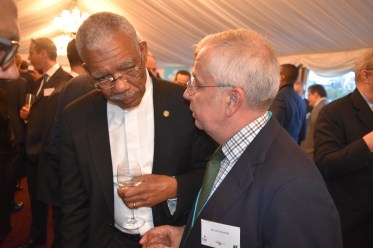 President David Granger interacting with guests at the event