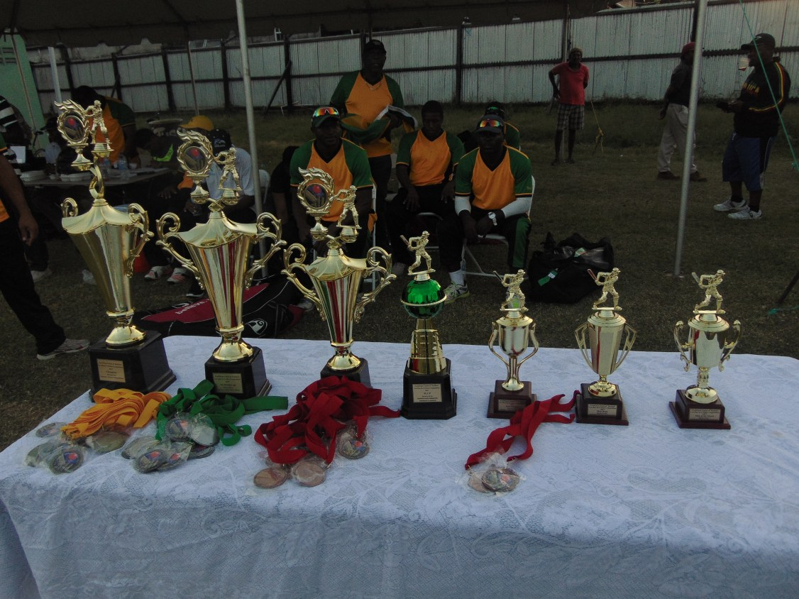 Trophies and medals for all who competed