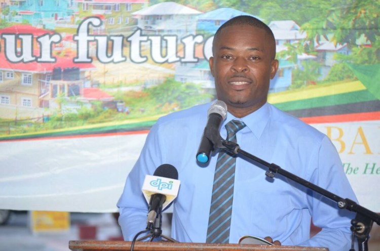 President, Guyana Association of the Municipalities (GAM), Carwyn Holland at the launching of the Local Government Handbook at Bartica Town Council