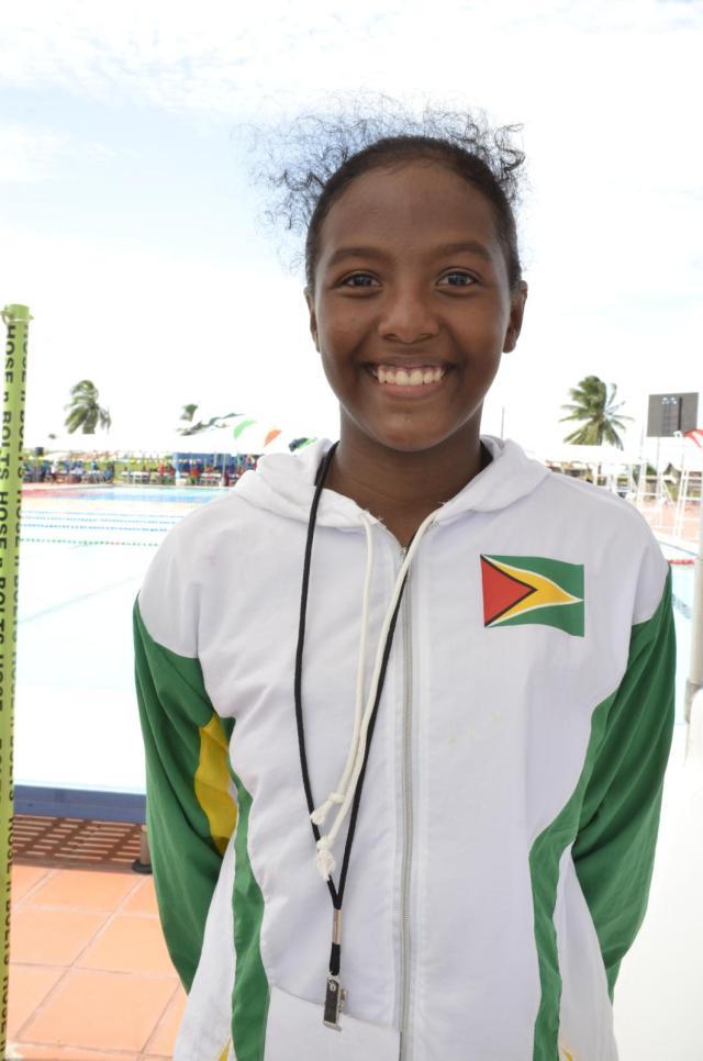 Lian Winter, Guyanese swimmer and meet record holder
