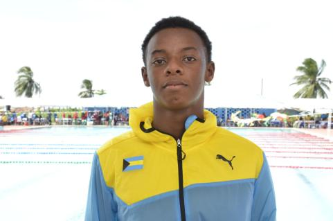Kristofer Smith, one of the Bahamian swimmers