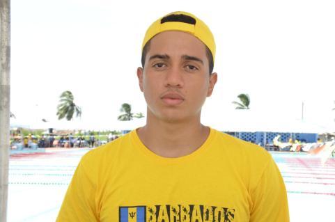 Kyron Richards,a member of the Barbados swim team