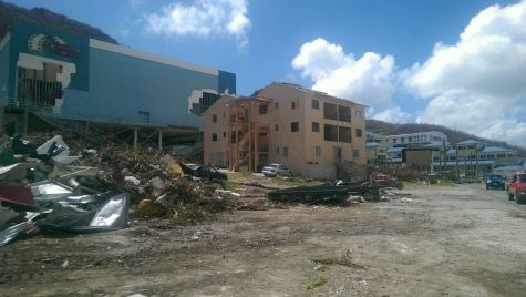 Devastation after left in the wake of Hurricane Irma in SXM