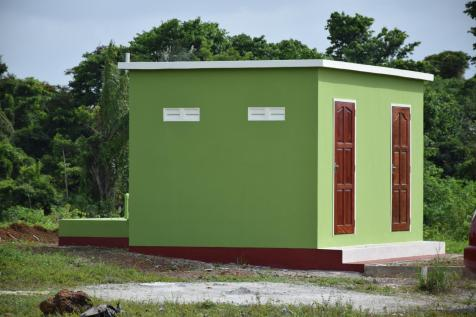 Sanitary Block constructed at the Mabaruma Green Park for persons using the park