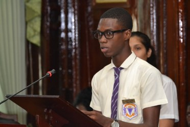 Youth Ambassador and President College student Jeremy Fraser