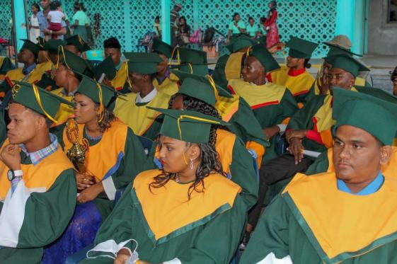 A section of the graduating class