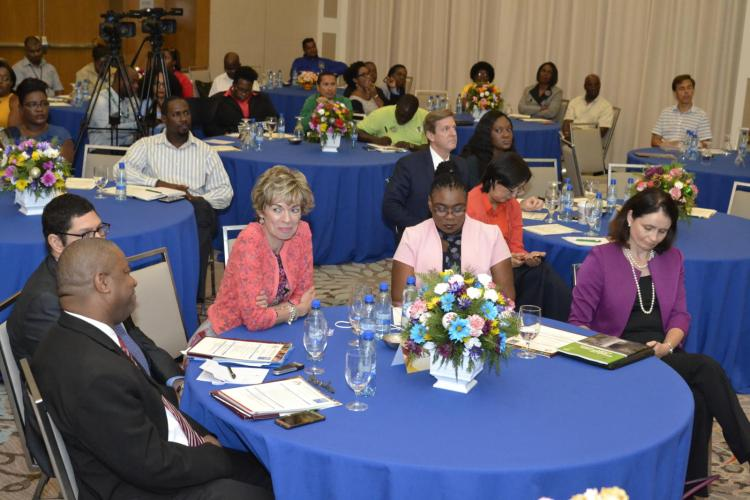 Stakeholders of the Private and Public Labour Forces at the launch of the Decent Work Country Programme for Guyana 2017-2021