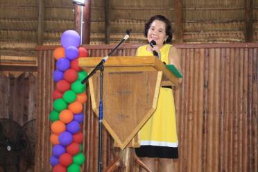 First Lady Mrs. Sandra Granger delivering her feature presentation