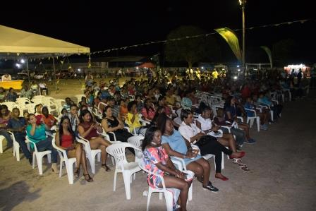 A section of the crowd at the Calypso semifinals competition