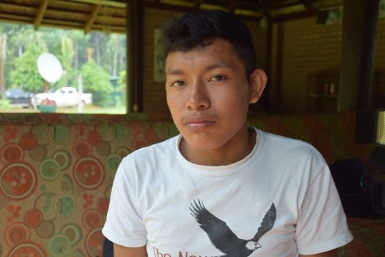 19-year-old Kendrick Andrew, Tour Guide at Atta Lodge, Iwokrama Forest