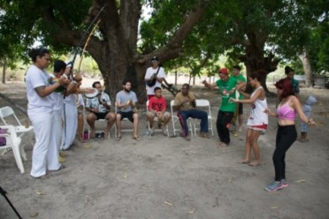 Some of the Brazilians, Venezuelans and Guyanese engaging in samba and capoeira dancing