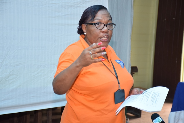 Social Management Consultant, PUUP, GPL, Ruth Lee making her presentation at the meeting