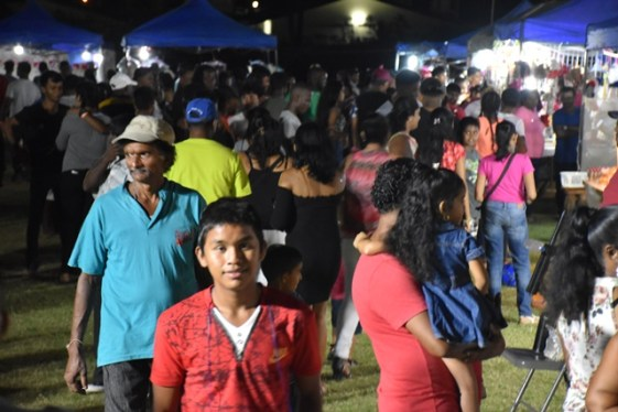 A part of the crowd at the Essequibo Agro and Trade Expo at the Anna Regina Community Centre Ground