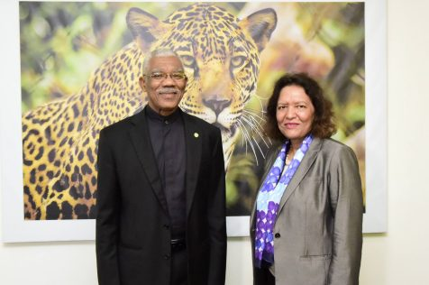 President David Granger and the World Bank's Country Director for Caribbean Countries and Latin America Tahseen Sayed