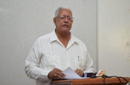 Agriculture Minister, Hon. Noel Holder