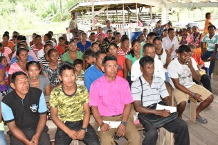 Residents of Smith Creek, Morawhanna and Imbotero during the outreach