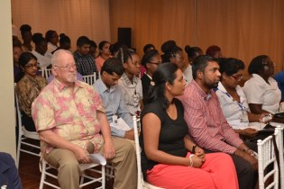 A section of the healthcare professionals attending the patient safety course