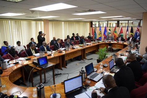Ministers of Foreign Affairs, International Trade and Immigration meet for the 46 COTED meeting at the CARICOM Secretariat, Turkeyen, Georgetown