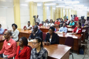 Public officials at an Anti-Corruption Seminar hosted at GRA's board room