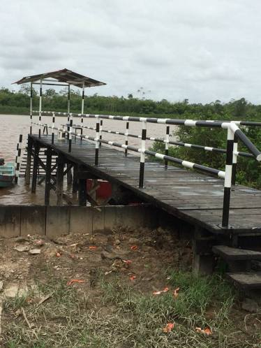 A view of the ramp commissioned at the La Harmony community (Image courtesy of www.facebook.com/Regional-Administration-Region-3)