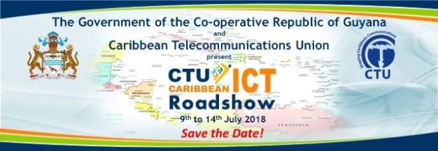 Caribbean ICT Road Show banner.