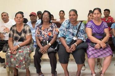 East Berbice residents at Skeldon Hospital waiting area.