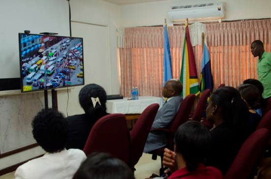 Section of the audience viewing the PSA.