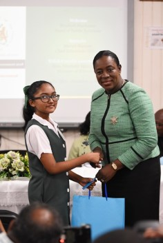 Third-place student, Kadee Ali. 524 marks.