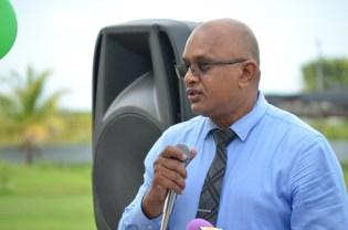 President of the Central Corentyne Chamber of Commerce, Poonai Bhigroog.