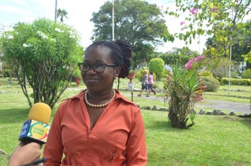 Shelon Simon, teacher of St Ann's Primary.