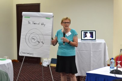 Professor of Education at St Francis Xavier, Dr. Joanne Tompkins facilitates session one.