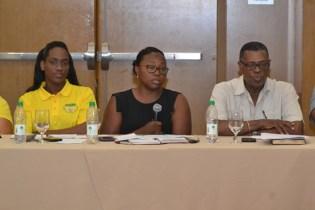President of the Guyana Women Miners Association, Urica Primus.