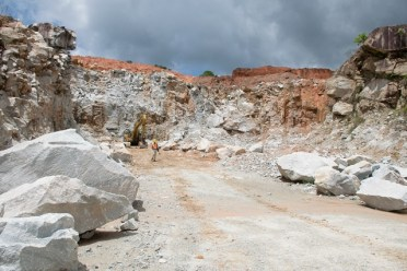 A section of a quarry pit at Durban Quarry Inc.